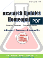 Research Updates Homeopathy by IPRH Vol 7 Issue 4