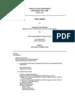 Criminal Procedure Syllabus Tarlac 2018
