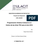 Proyecto de Integración Programación Artístico Cultural Centro de Las Artes TEC. Sergio Herrera.
