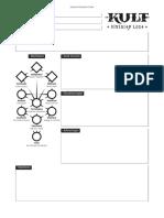 Kult Character Sheet