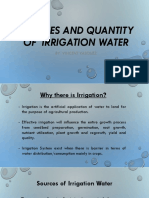Sources and Quantity of Irrigation Water