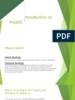 A Brief Intro to Hadith