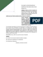 Modelo de escrito por contrato