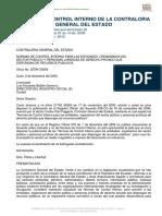 NORMAS DE CONTROL INTERNO CONTRALORIA GENERAL DEL ESTADO