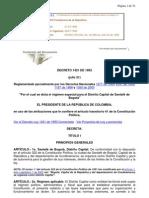 Decreto Ley 1421 de 1993
