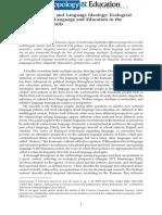 Language Policy and Language Ideology