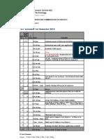 ICT Schedule Semester 1 V2 - 2010