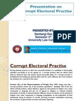 Corrupt Electoral Practise