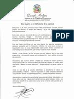 Mensaje del presidente Danilo Medina con motivo del Día Nacional de la Juventud 2019