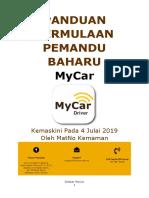 Panduan MyCar Bagi Pemandu Baharu