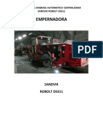 Empernadora Marca SANDVIK Modelo Robolt DS311