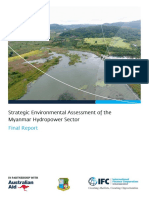 Strategic Environmental Assessment of the Myanmar Hydropower Sector IFC