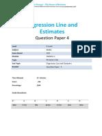9-Regression Line and Estimates-A Level-ocr Maths s1-Qp4