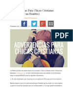 5 Advertencias Para Chicas Cristianas