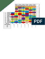 Timetable HO ED 19nov-25nov