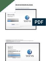 TOTVS V10 - Modelo de Facturacion en Locales