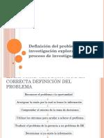3 Definición del problema, investigación exploratoria y el proceso de investigación