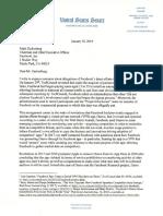 Letter to Zuckerberg 01 30 2019