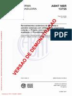 Revestimentos Cerâmicos de Fachadas e Paredes Externas Com Utilização de Argamassa Colante - Projeto, Execução, Inspeção e Aceitação - Procedimento(Full Permission)