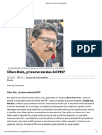 24.01.19 Ulises Ruiz, ¿el nuevo mesías del PRI?