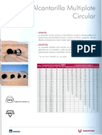 Alcantarilla Multiplate - CIRCULAR