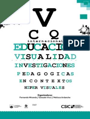 Educacion Y Visualidad Investigaciones Pedagogicas Contextos