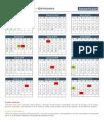 Calendario Laboral 2019 Extremadura