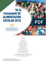 Menús Para El Programa de Alimentacion Escolar 2019