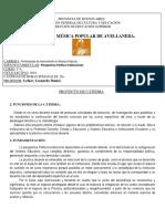 Proyecto de cátedra. Perspectiva Político Institucional.2018.docx