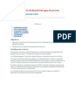 Determinación de Alcalinidad Del Agua de Proceso