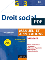 Droit Social Manuel Et Applications