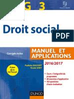 Droit Social Manuel Et Applications