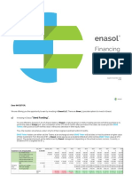 Enasol Financing Offer