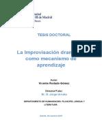 Tesis La Improvisación dramática como mecanismo de aprendizaje - Vicente Rodado