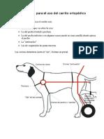 Instrucciones para ajustar las correas de un carrito ortopédico para perros o gatos
