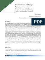 analisis teorias de liderazgo - una propuesta metateorica - Lenin Guerra
