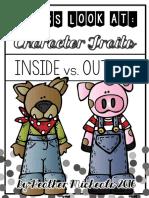 inside vs outside character traits