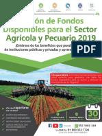 GESTIÓN DE FONDOS DISPONIBLES PARA EL SECTOR AGRÍCOLA Y PECUARIO 2019
