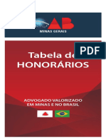 tabela de honorarios OAB MG