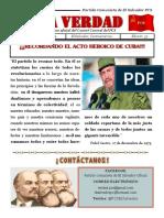 """Periódico """"LA VERDAD"""" órgano de propaganda del Partido Comunista de El Salvador"""