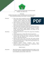 Surat Keputusan Kepala Madrasah Mifuka Tahun 2018