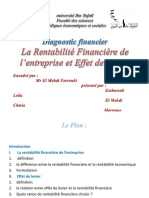 2La Rentabilité Financière Et Effet de Levier Mon Exposé 1 (1)