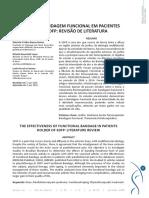 A EFICÁCIA DA BANDAGEM FUNCIONAL EM PACIENTES PORTADORES DE SDFP