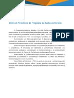 Matriz de Referência Do PAS - Primeira Etapa 2018