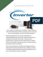 Caracteristicas de Compresorer en El Sistema Inverte