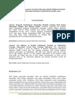 PENGARUH PEMBELAJARAN MATEMATIKA REALISTIK TERHADAP HASIL BELAJAR MATEMATIKA DITINJAU DARI MOTIVASI BELAJAR.docx