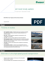 Ultra High-Speed Rail Travel Study Update