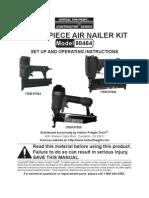3 Piece Air Nailer Kit Manual Model 98464