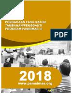 POB Pengadaan Fasilitator Pamsimas III T. 2018