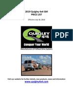 2019 Quigley 4WD GM Retail Price List Final